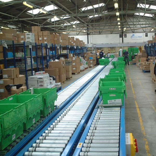 Amber Automation Lineshaft Powered Roller Conveyor