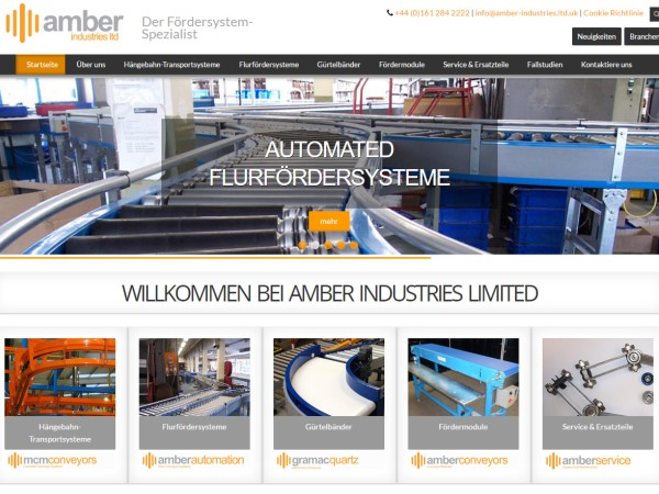 NUEVA WEBSITE DE AMBER INDUSTRIES EN ALEMAN